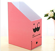 Desktop File Paper Storage Box Collapsible Random Color
