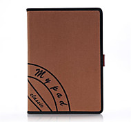 For Apple iPad Air iPad 5 Retro Canvas Smart PU Leather Case Cover With Hand Strap Stand