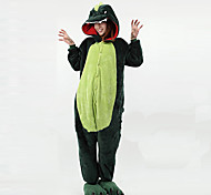 New Cosplay®Naughty Dinosaur Dark Green Polar Fleece Kigurumi Pajamas (without Shoes)
