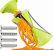 4 in 1 Vegetable Cutter Spiral Slicer Spiralizer Kitchen Hilfer For Vegetable Salad Noodles Spaghetti