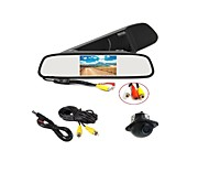 170°HD Parking Camera + Car Rearview Mirror LCD Display Monitor
