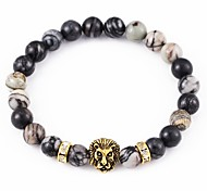 New Arrival Stone Lion Head Bracelet Strand Bracelets Daily / Casual 1pc Christmas Gifts