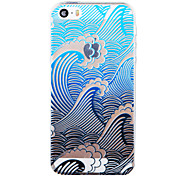 """The Sound Of Billows Painted Pattern Soft Transparent TPU Back Case For Iphone5/5S 4.0"""""""