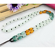 Necklace Pendant Necklaces Jewelry Wedding / Party / Daily / Casual Jade White / Yellow / Green 1pc Gift