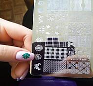 1PCS новый искусства ногтя штамповки пластины поделки шаблоны изображений инструменты ногтя красотки ху-j11-16