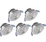 5pcs Downlights светодиоды затемняемый 6W 600lm auminium светодиодные светильники celing свет прохладный / теплый белый