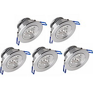 6W Luci da arredo 3 LED ad alta intesità 600 lm Bianco caldo / Luce fredda Intensità regolabile / Decorativo AC 100-240 V 5 pezzi