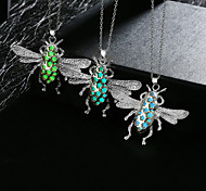 Necklace Pendant Necklaces / Chain Necklaces / Pendants Jewelry Daily / Casual Alloy Dark Blue / Bronze / Light Green 1pc Gift