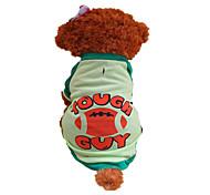 Hunde T-shirt Grün Sommer Buchstabe & Nummer