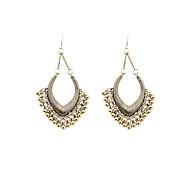 Fashion Women Vintage Metal Ball Drop Earrings