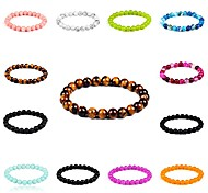 New Arrival 8 Colors Nature Stone Bracelet Strand Bracelets Daily / Casual 1pc Hot Sale