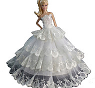 Barbie Doll White Wedding Organza / Lace Dresses Dresses