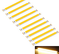 YouOKLight® 10PCS 10W  950lm COB 1-LED Warm White 3000K Rectangle Strip (DC 12~14V)