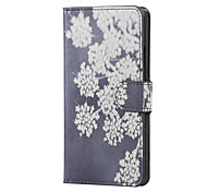 For LG Case Card Holder / with Stand / Flip / Pattern Case Full Body Case Flower Hard PU Leather LG