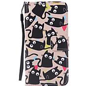 Kitty Lanyard Painted PU Phone Case for Huawei P9/P9lite