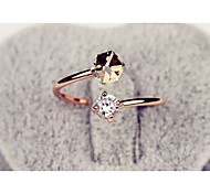 The Latest Fashionable Color Diamond Ring Woman