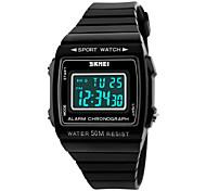 Damen Sportuhr digital LED / Kalender / Chronograph / Wasserdicht / Alarm PU Band Schwarz / Weiß / Blau / Lila Marke-