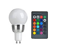 GU10 3W RGB Color Spotlights LED Colorful Remote Control Spotlights