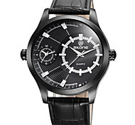Men's Wrist watch Quartz Leather Band Black