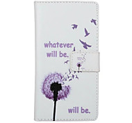 Full Body Wallet / Card Holder / with Stand Dandelion PU Leather Hard Case Cover For Huawei Huawei P9
