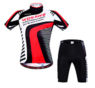 Wosawe Bike/Cycling Shorts / Arm Warmers / Padded Shorts / Jersey + Shorts / Sweatshirt / Tops Unisex Short SleeveBreathable / Quick Dry