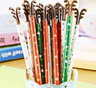 Christmas Antlers Black Ink Gel Pen(1PCS Random Color)