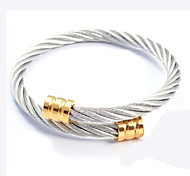 Gold Plated 316L Stainless Steel Sharp Cable Bangle