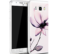 3D Relief Graphic Pattern Fashion Silicone Material Back Cover for Samsung Galaxy J7(2016)