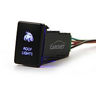 CARCHET TOYOTA Push Switch Laser Backlit ROOF LIGHTS Blue LED Light ON-OFF Toggle Switch 3A 12V