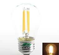 1 Stück Zweihnder E26/E27 4W 4 COB 380 lm Warmes Weiß G45 edison Vintage LED Glühlampen AC 220-240 V