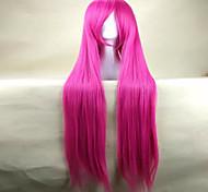 парики Высочайшее качество розовый парик косплей женщины супер длинные прямые анимированные парики из синтетических волос парики партии