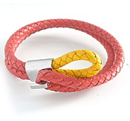 Cutting Wire Knit Leather Bracelets