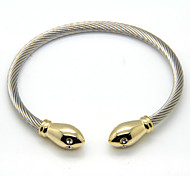 Snake Head Cuff Cable Bangle