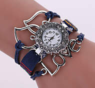 Lady's  Quartz Analog White Case Love Leather Band Bracelet Wrist Fashion Watch Jewelry Cool Watches Unique Watches
