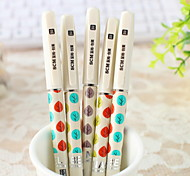 Colorful Leaves Pattern Black Ink Gel Pen(1 PCS)