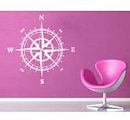 9048 Compass Wall Decal Nautical Home Decor 60*60cm Removable Wall Decor for Home Bedroom Decoration Stickers