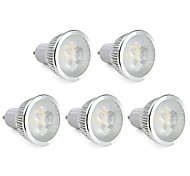 6W GU10 Focos LED MR16 3 LED de Alta Potencia 310 lm Blanco Cálido Regulable AC 100-240 V 5 piezas