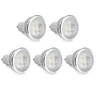 6W GU10 LED Spotlight MR16 3 High Power LED 310 lm Warm White Dimmable AC 220-240 V 5 pcs