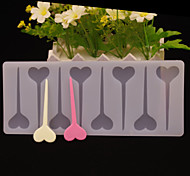 Love Heart Arrow Shape Chocolate Plugin Mold for Cake Decoration Silicone Material