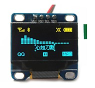 "0.96"" Inch Yellow and Blue I2c IIC Serial 128x64 Oled LCD Oled LED Module for Arduino Display 51 Msp420 Stim32 SCR"