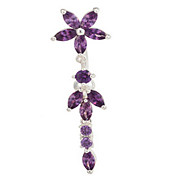 Lady's Stainless Steel Zircon Navel Belly Button Ring Dancing Body Jewelry Piercing Body Jewelry