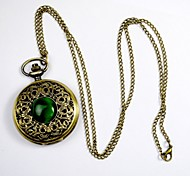Unisex Pocket Watch Classical Carved Palace Green Cat Queen Pocket Watch Clamshell Pocket Watch Cool Watches Unique Watches