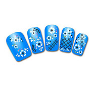 Lovely Blue  Snow Leopard Lace Nail Jewelry