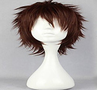 парики популярным косплей парик парики натуральные человека темно-коричневые короткие вьющиеся анимированные парики из синтетических волос