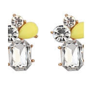 Simple Stitching Ladies Fashion Crystal Earrings
