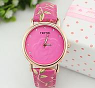 Ladies Fashion Watch Flower Dial Decorative Analog Quartz Watch