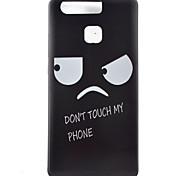 Eye Watch Black Edging Soft TPU Phone Case for Huawei Ascend P9/P9 Lite