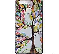 Colored Trees Watch Black Edging Soft TPU Phone Case for Huawei Ascend P9/P9 Lite