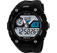 Sports Watch Heren LED / Kalender / Dubbele tijdzones / alarm / Stopwatch / s Nachts oplichtend Japanse quartz Analoog-Digitaal