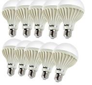 5W E26/E27 Bombillas LED de Globo B 9 SMD 5630 450 lm Blanco Cálido Decorativa AC 100-240 V 10 piezas